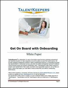 TalentKeepers Get on Board with Onboarding Whitepaper