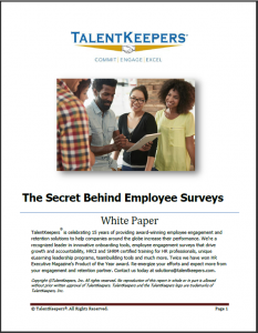 TalentKeepers Whitepaper The Secret of Employee Engagement Surveys
