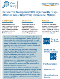 Outsourcer Transparent BPO Significantly Drops Attrition While Improving Operational Metrics